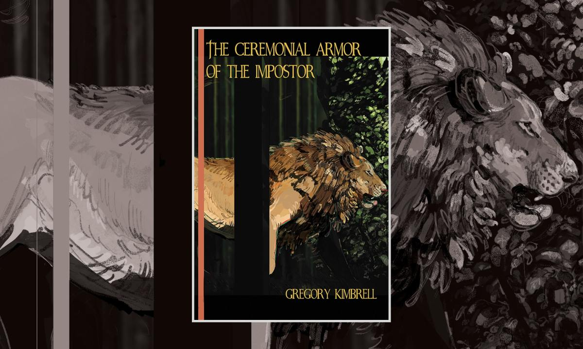 Cover of The Ceremonial Armor of the Impostor by Gregory Kimbrell, art by Moondevourer, typography by Weasel, courtesy of Weasel Press